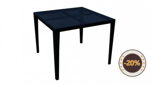 Table en résine tressée BERGAME