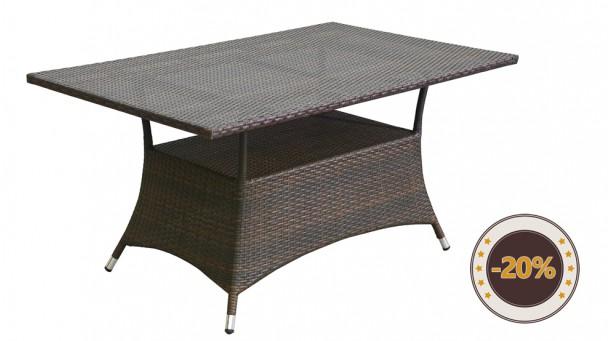 Table en résine tressée GENOVA