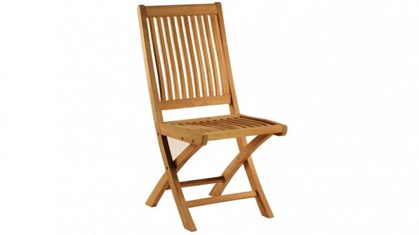 Chaise galbée pliante en teck massif OPIO