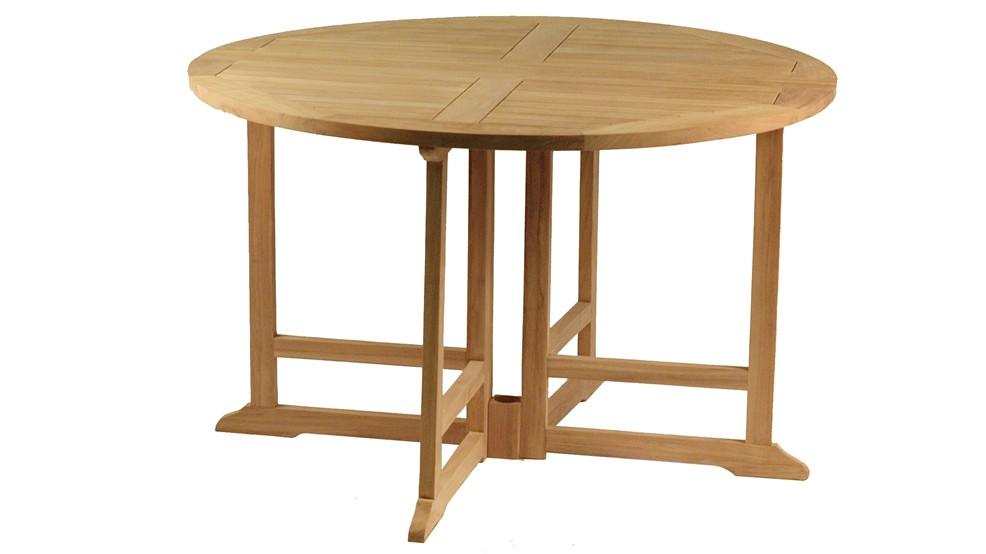 table en teck ronde pliante nosy be. Black Bedroom Furniture Sets. Home Design Ideas