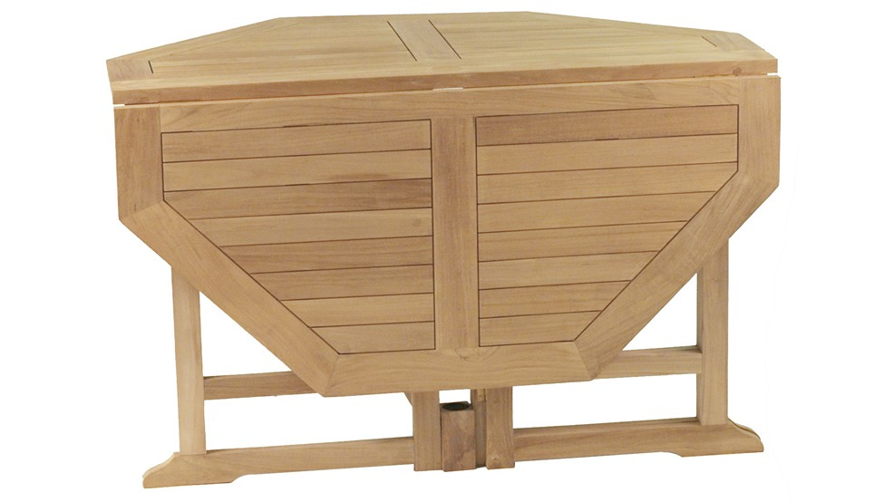 En Pliante Grenadines Octogonale Teck Table xdCBoe