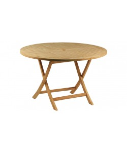 Table en teck massif GRASSE, Ø 120.0 cm