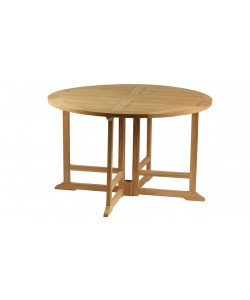 Table pliante en teck massif VALBONNE, Ø120cm