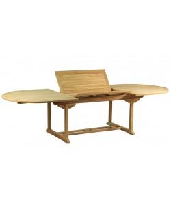 Table extensible en teck massif RAMATUELLE, 200-300.0 cm