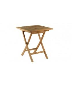 Table carrée en teck massif CASSIS pour 2 personnes