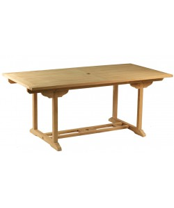 Table rectangulaire en teck massif GIENS, 180 cm