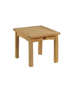 Table basse en teck massif, L.50x50cm